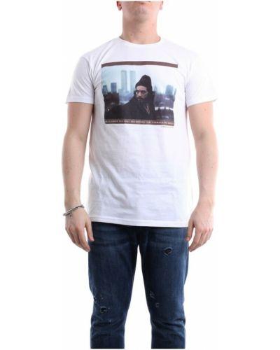 Biała t-shirt krótki rękaw Messagerie