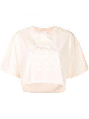 Коричневая хлопковая футболка с вырезом Alice Mccall