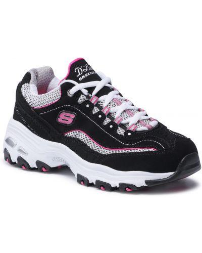 Buty sportowe skorzane - białe Skechers