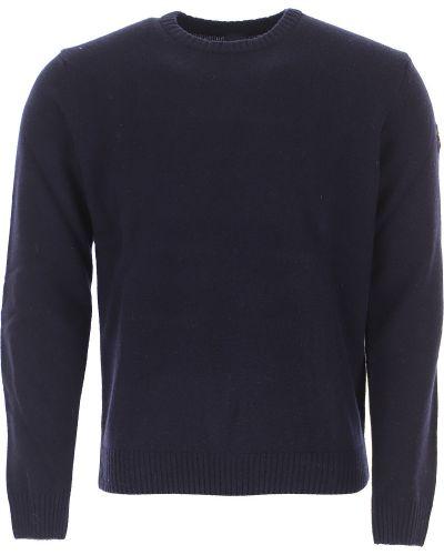 Prążkowany długi sweter bawełniany z długimi rękawami Paul & Shark