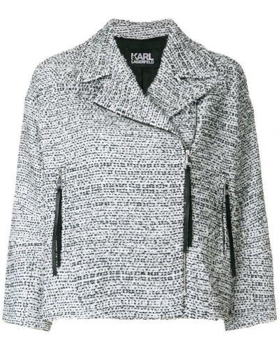 Белая куртка байкерская Karl Lagerfeld