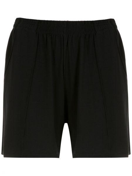 Черные спортивные шорты с карманами из вискозы Lygia & Nanny