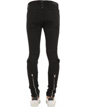 Czarne jeansy bawełniane klamry Mr.completely