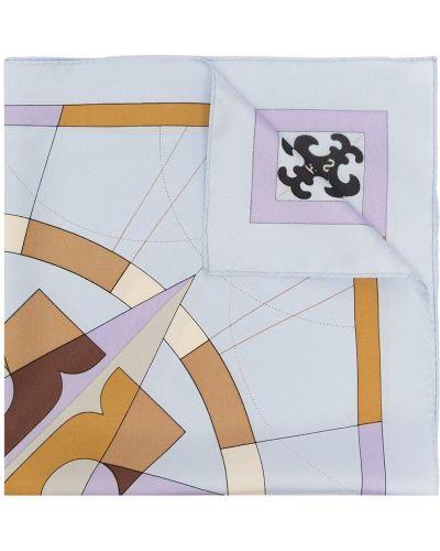 Фиолетовый платок с логотипом Tory Burch