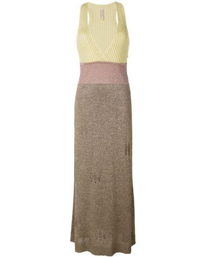 Вязаное платье розовое с люрексом Antonio Marras