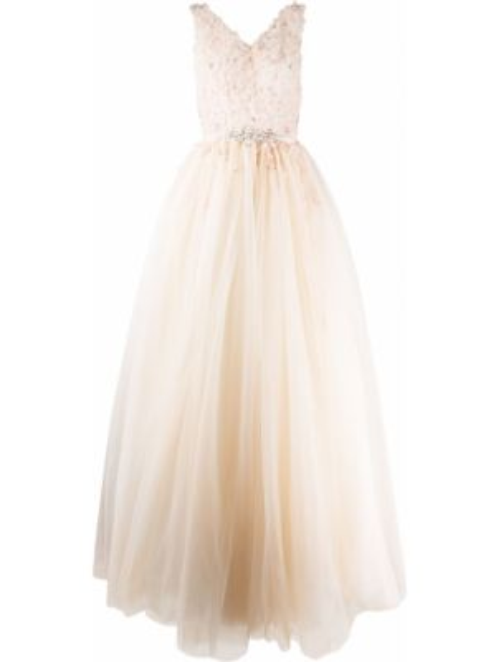 Вечернее платье со вставками на молнии Loulou
