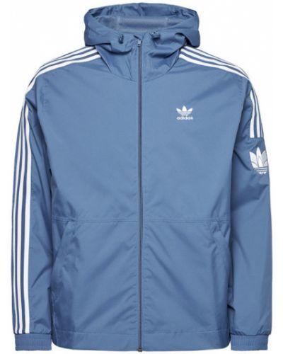 Niebieska wiatrówka Adidas