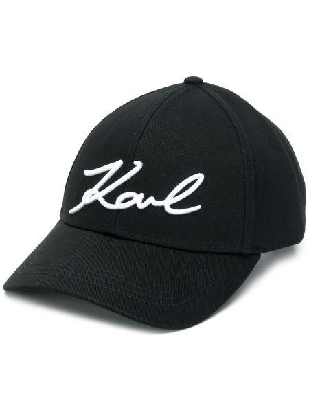 Черная кепка Karl Lagerfeld