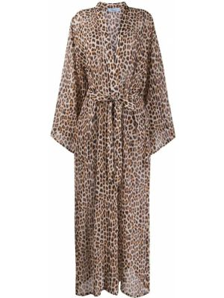 Шелковое платье макси - коричневое Blumarine