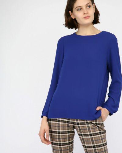 Блузка с длинным рукавом синяя Monton