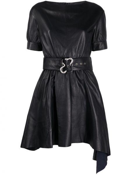 Платье с поясом прямое черное Just Cavalli