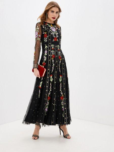 Вечернее платье осеннее черное Frock And Frill