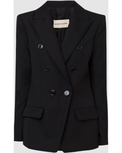 Черный шерстяной пиджак Alexandre Vauthier