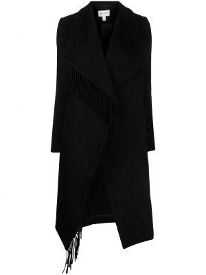 Czarny płaszcz wełniany Milly