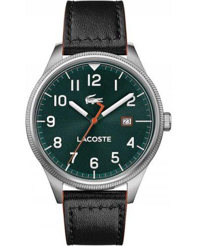Szary zegarek na skórzanym pasku skórzany kwarc Lacoste
