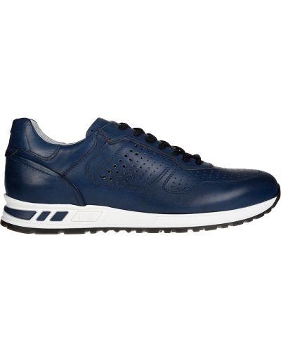 Кожаные кроссовки - синие Nero Giardini