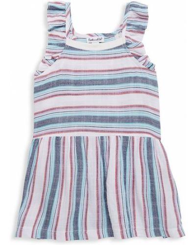 Платье на бретелях в полоску с нашивками Splendid