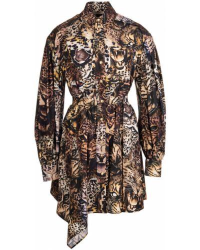 Brązowa sukienka Roberto Cavalli