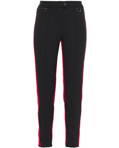 Czarne spodnie w paski z nylonu Erin Snow