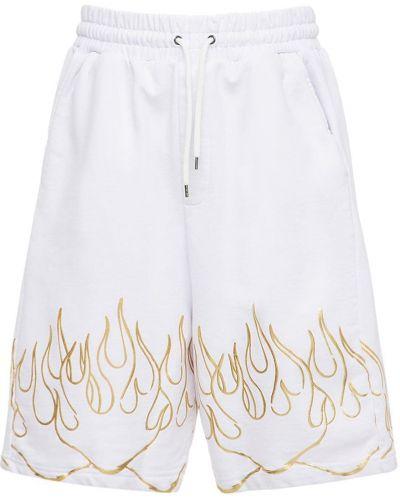 Białe szorty bawełniane z printem Ihs