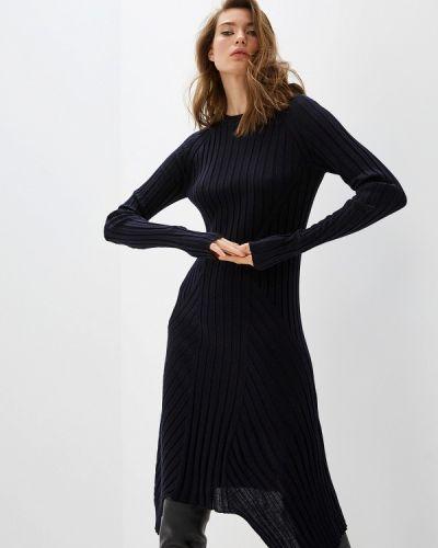 Повседневное платье осеннее синее Helmut Lang