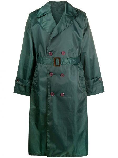 Нейлоновый длинное пальто на пуговицах с лацканами A.n.g.e.l.o. Vintage Cult