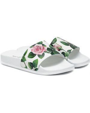 Skórzany sandały lato Dolce & Gabbana Kids