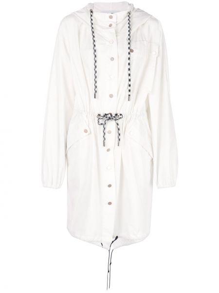 Белая длинное пальто Proenza Schouler