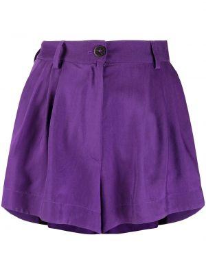 Фиолетовые с завышенной талией шорты на пуговицах Forte Forte