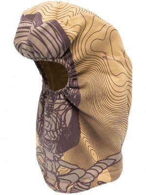 Бежевая балаклава с капюшоном с декоративной отделкой Formy Studio