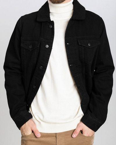 Джинсовая куртка черная осенняя Ostin