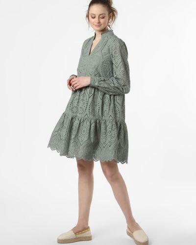 Zielona sukienka boho z haftem Y.a.s
