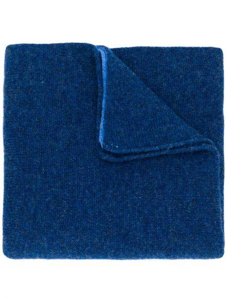 Синий шарф вязаный Dell'oglio
