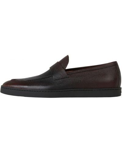 Brązowe loafers Santoni