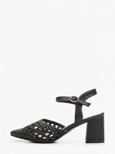 Черные кожаные туфли с открытой пяткой из искусственной кожи Martin Pescatore
