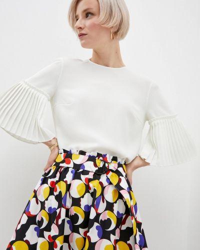 С рукавами белая блузка Akris Punto