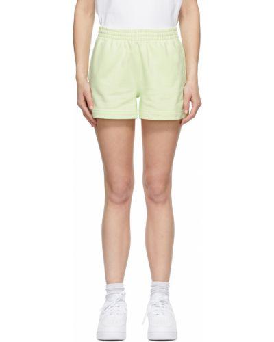 Зеленые махровые шорты Helmut Lang
