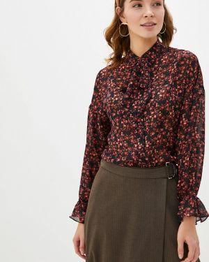 Блузка с длинным рукавом осенняя черная Lusio