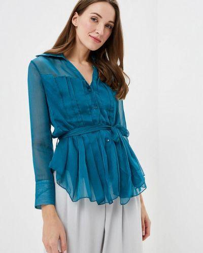 Бирюзовая блузка с оборками Paccio