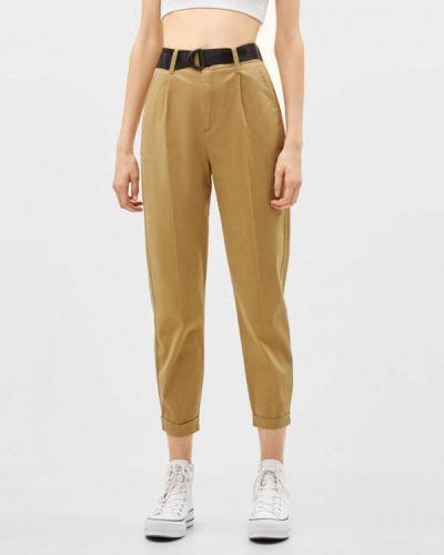 Классические брюки бежевый Bershka