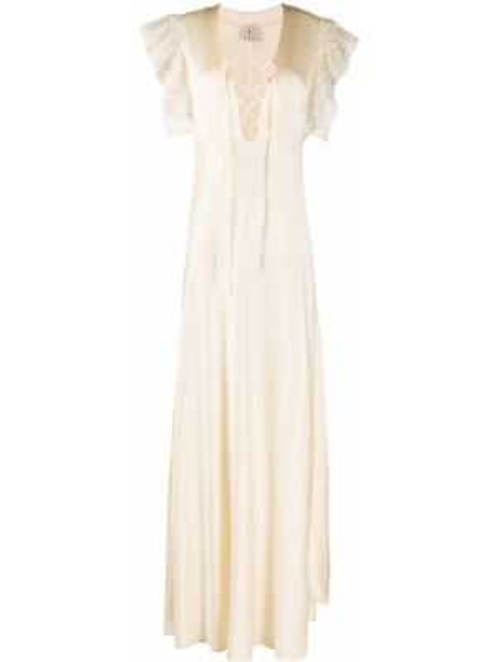 Платье на шнуровке с V-образным вырезом Lautre Chose
