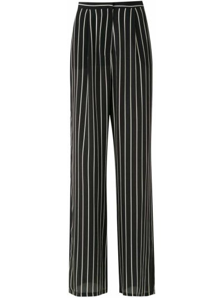Черные брюки в полоску свободного кроя Adriana Degreas