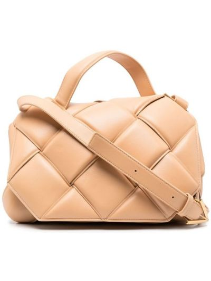 Кожаная сумка на плечо с карманами на молнии Bottega Veneta