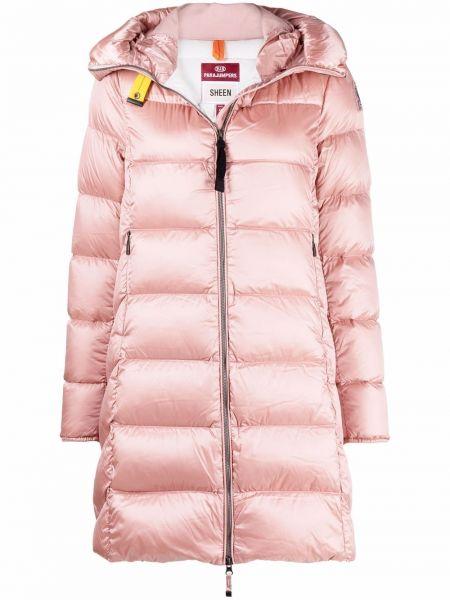 Полупальто с капюшоном - розовое Parajumpers