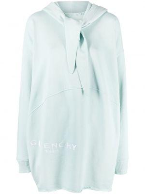 Niebieski z rękawami długo sukienka z kapturem Givenchy