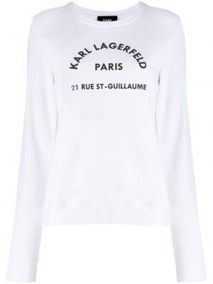 Свитер длинный белый Karl Lagerfeld