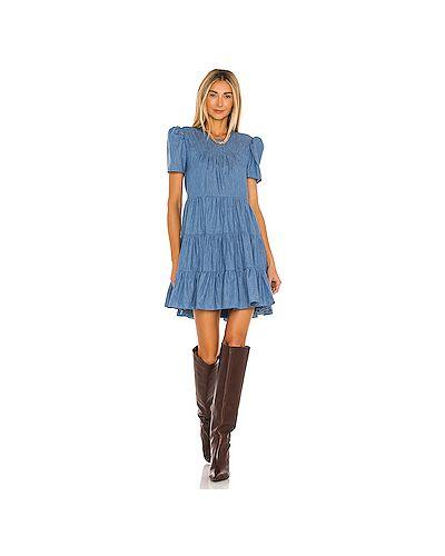 С рукавами синее платье мини с подкладкой Likely