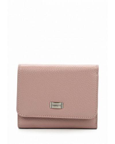 Розовый кожаный кошелек Fabretti
