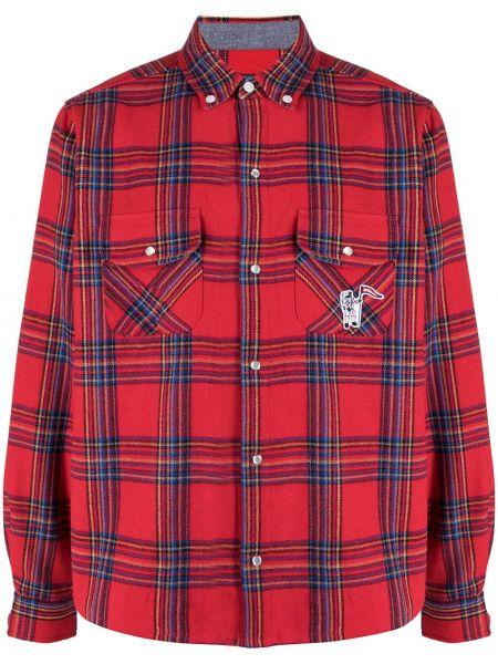 Рубашка в клетку - красная Billionaire Boys Club