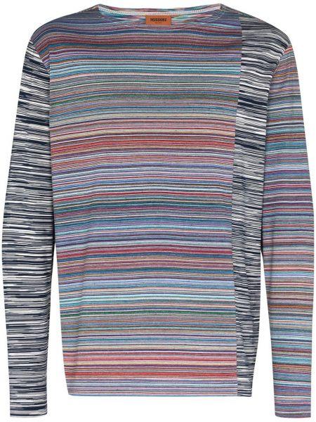 Koszula z długim rękawem z paskami w paski Missoni